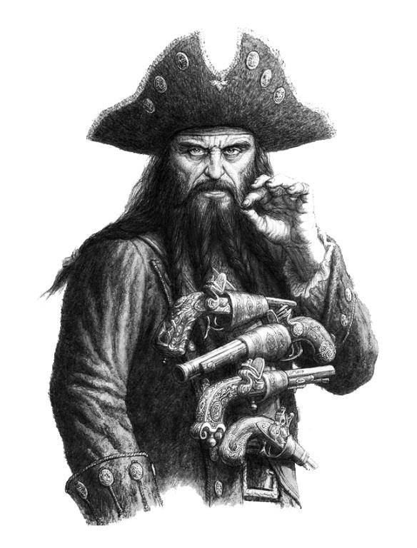 Blackbeard bw
